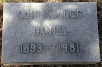 Lois Keller Daniel wife of Carlton