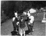 Lowell Sibert, Pet and Prince, on Sibert farm