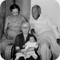 Maggie, Ted, Bobbie (Grace Daniel Applegate), and Ann's first-born, Peter Skylstad, 1955