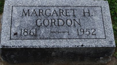 Margaret Hoffman Gordon headstone
