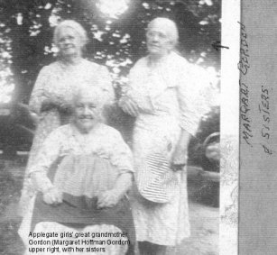 Margaret Hoffman Gordon (right) and sisters