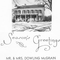 Christmas card from Annis and Dowl McGrain of Corydon