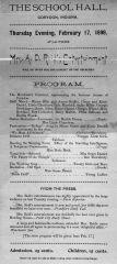 Music Program, Corydon, Feb. 17 1898