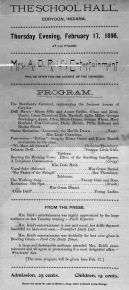 Music Program, Corydon, Feb. 17 1898