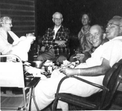 Bobbie holding Pete, Patty Doc, Grace, Larry, Ted, 1955