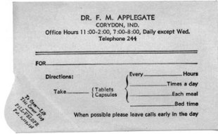 Ted Applegate Rx form