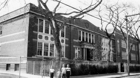 Rica, Barb, Sue, Grace, Stamford school, 1948