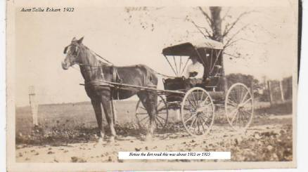 Sallie Eckart horse and buggy