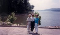 Sue, Grace, Ann, 1988, overlooking Ohio River