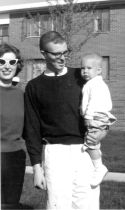 Geo. W. Applegate IV (Sonny), wife Barbara, son Mark, fall of 1962