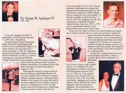 Obituary of Geo Wm Applegate IV (Sonny)