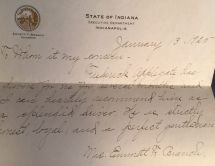 Reference for Ted from wife of Indiana Governor Branch, 1925.