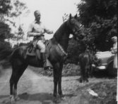 Ted riding, about 1948