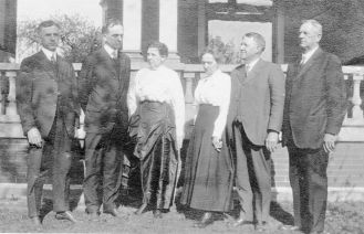 Vernon C. Patten (1870-1959) and siblings: Hiram B. (1867-1938), Becca (1860-1938), Juliette (1858-1922), Charles (1857-1922), John (1855-1922).
