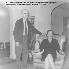 Vernon Cole Patten and daughter Margaret Patten Applegate, 1958