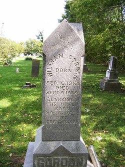 William Gordon headstone 1818-1858