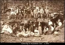 Vyandotte Cave visit, 1895