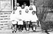 Corydon Presbyterian Choir, 1948. Ann, top row, left; Grace, mid row, right; Sue and Rica, bottom row, 3rd and 4th.