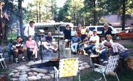 Williams Creek, around the campfire, 1996