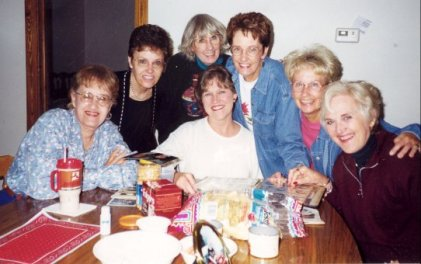 Ann, Barb, Rica, Grace, Sue, Dixie, Carter, April 1999, New Braunfels
