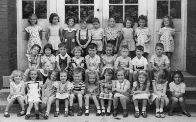 Barb, 2nd row, 2nd from left. First on left is Mary Ann Kirkham. Corydon, 1948.