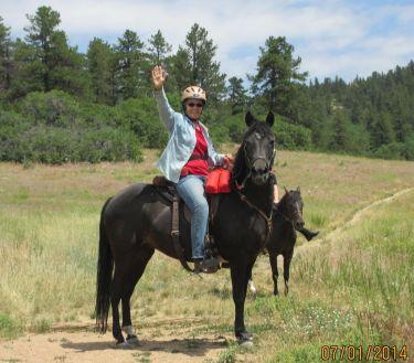 Barb and Passion, July 1, 2014, Dawson's Butte, Colorado