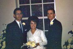 Barb and Don marriage, Oct. 1964. Don's brother Gary, pastor.