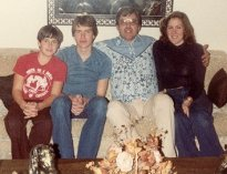 Bill, John, Don, Theresa, Dec., 1980