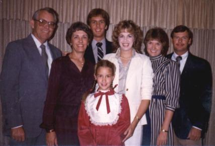 Grace, Richard and children, 1983
