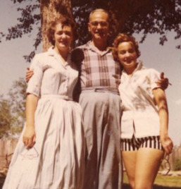 Grace, Ted, Sue, 1957, Monahans