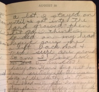 Grace's diary entry, 8/30/1952