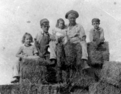 Rica and Barb with Lowell Sibert, about 1946 or 1947