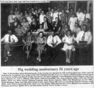 July 1945, article about the 56th anniversary of Lois and Ray Jordan