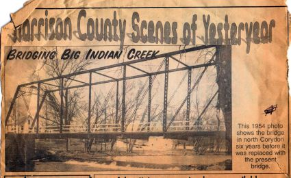 Big Indiane Creek, Corydon, 1954
