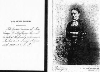 Anna Van Zandt (1847-1899) funeral notice