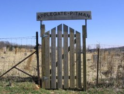 Entrance gate of Applegate-Pitman Cemetery in Central, IN
