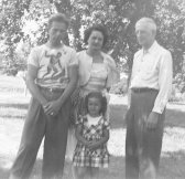 Bill, Delores, Dee Ann Patten with Patty Doc, about 1950