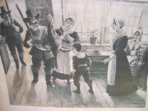 Early American family scene