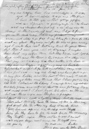 John Daniel (1864-1889) letter to brother Dr. William Daniel (1852-1931)