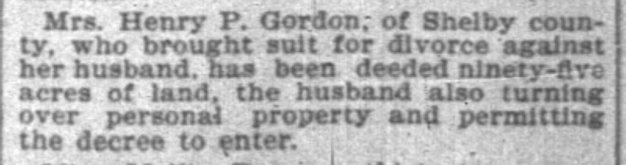 Margaret Gordon sues for divorce, Jan. 1899