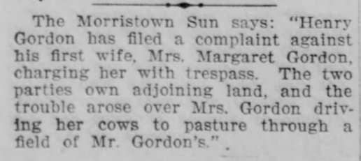Complaint filed by Henry Gordon against Margaret Gordon, 23 Jun 1910