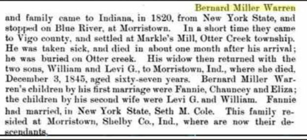 Info about Fanny Warren Cole (1798-1872).
