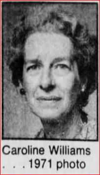 Caroline Williams, 1971