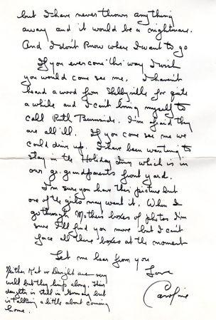 Caroline to Maggie Applegate, pg 2, 1974