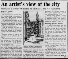 Caroline Williams, Part 1, Cinci Enquirer, 05 Aug 1988