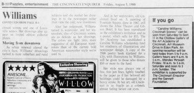 Caroline Williams, Part 2, Cinci Enquirer, 05 Aug 1988