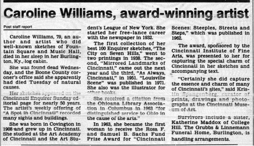 Caroline Williams obit