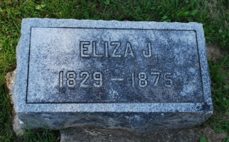 Eliza Jane Cole Patten (1829-1875) stone