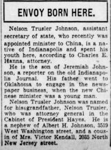 Nelson T Johnson. Indianapolis Star, Nov 23, 1929