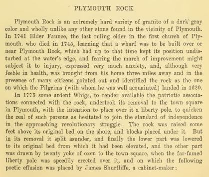 About Plymouth Rock on Cole's Hill #1